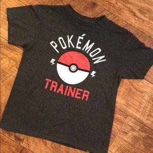 Pokémon Trainer Kids Shirt Size M Dark Grey
